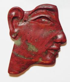 Egyptian Glass Inlay. 19th Dynasty. 35 x 27 mm