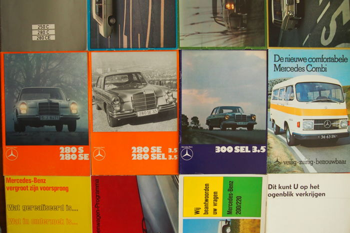 Mercedes-Benz - 12 brochures among others the Mercedes Combi - 1970s