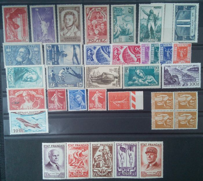 France 1936/1954 - Stamp Collection