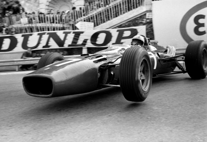1966 Monaco grand prix John Surtees Ferrari   Black and White  Photograph