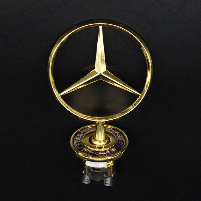 mercedes benz gold stern f r motorhaube emblem w203 w204. Black Bedroom Furniture Sets. Home Design Ideas