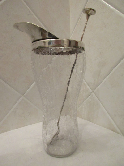 Antique shaker in glass and silver plated - Cinzano - Italy, around 1950/60