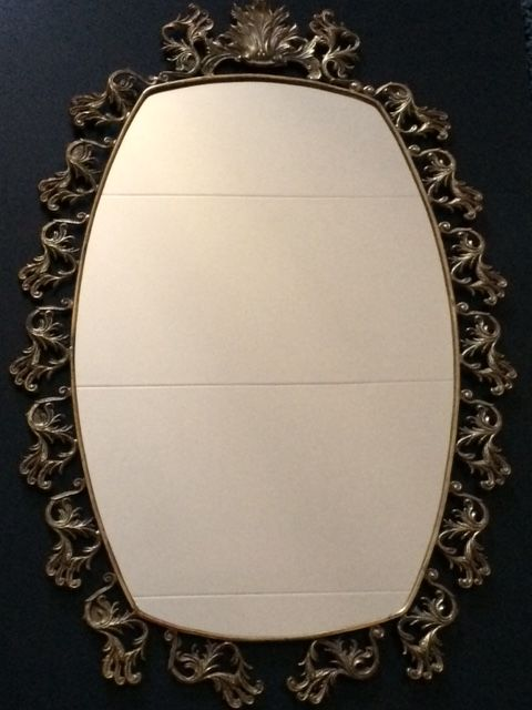 Beautiful large mirror of FG, Italian, brass, 1960s