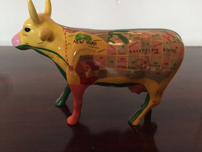 CowParade  Map Cow Medium New York City 2000  Retired