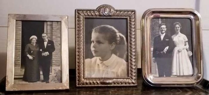 Vintage - 3 silver plated photo frames