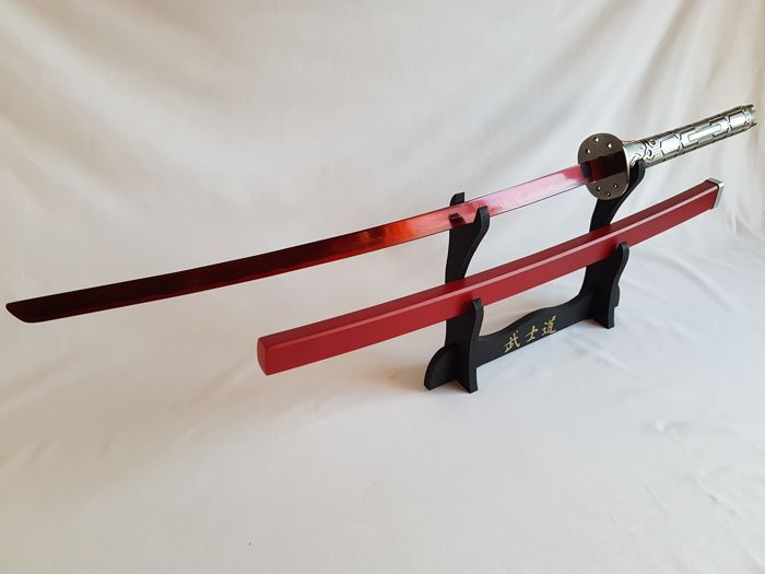 Phenomenal Katana Samurai from exposure , Futuristic model, with red blade, 440C Carbon Stainless Steel! Completely made in high quality 440C red steel.