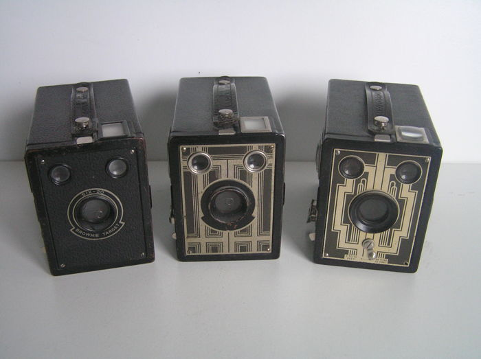 3x Kodak Six-20 box camera