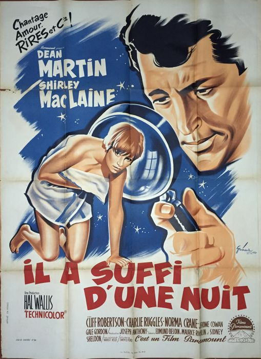 Boris Grinsson - Il a suffi d'une nuit / All in a night's work (Dean Martin, Shirley MacLaine) - 1961