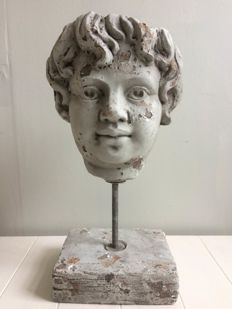 Plaster head on base - second half of 20th century