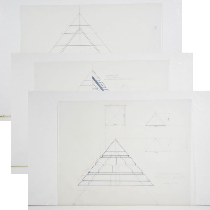Stargate - Original Blueprints Pyramide - 1994 - Kurt Russell and James Spader