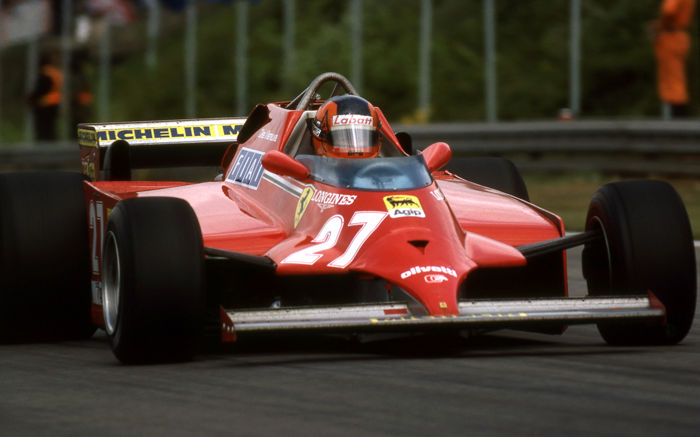 1981 Giles Villeneuve Ferrari British G.P  Colour  Photograph 54cm x44cm 2