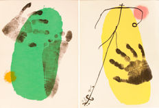 Joan Miró  - 2 Lithographs