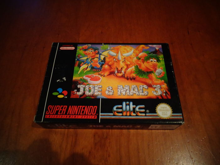 "Super Nintendo ""Joe & Mac 3"" Fully complete -The Holy Grail-"