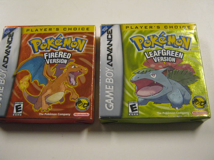 Gameboy Advance Pokemon Leaf Green + Fire Red boxed