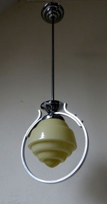 Art Deco lamp - chrome fixture