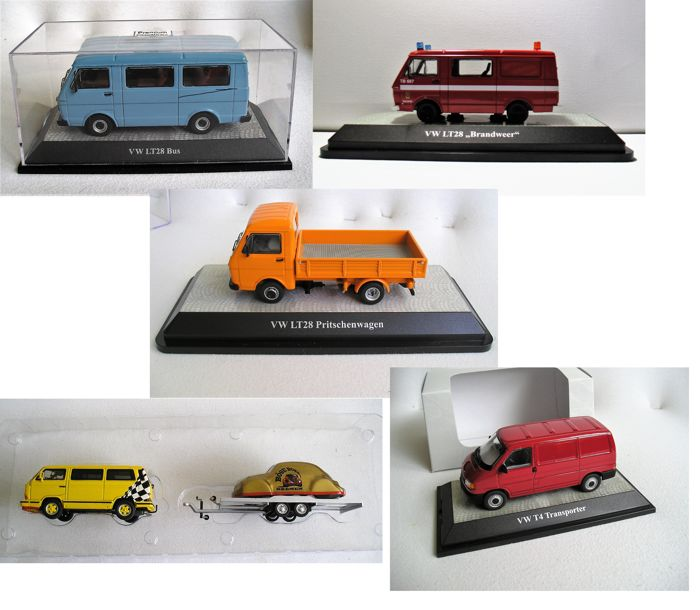 Premium ClassiXXs - Scale 1/43 - Lot with 5 models: 5 x Volkswagen LT28