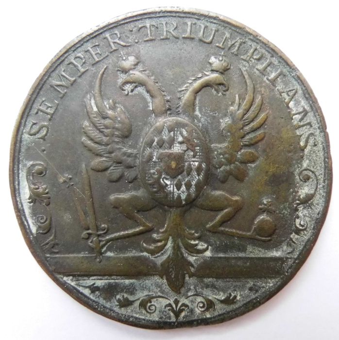 Holy Roman Empire - Medal 1745 commemorating to the Coronation of Francis I to Holy Roman Emperor