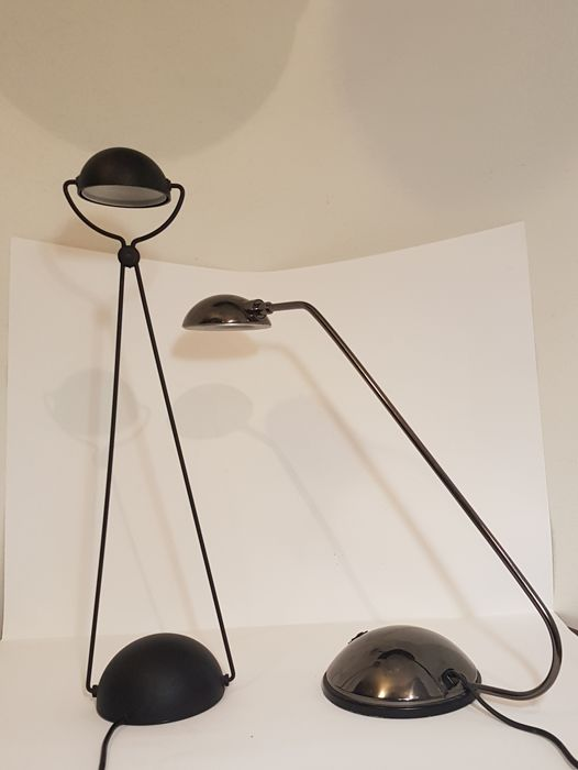 Set Of Two Table Lamps. Model: Meridiana, Designed By Stefano Cevoli, Brand