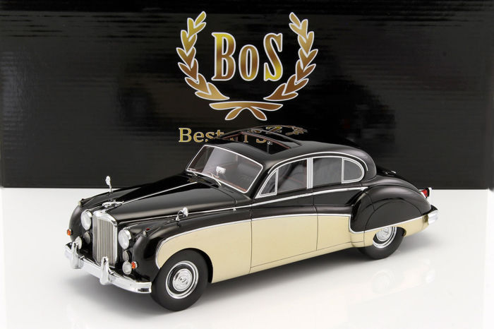 BoS - Scale 1/18 - Jaguar MK VIII MK 8 RHD 1957 - Black / Gold - Limited Edition 1000 pcs