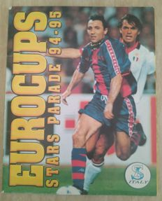 Variante Panini - Service Line Italy - Modena - Eurocups Stars Parade 94/95 - Complete album.