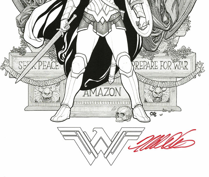 Wonder Woman Frank Cho Hand Signed Lithography Catawiki