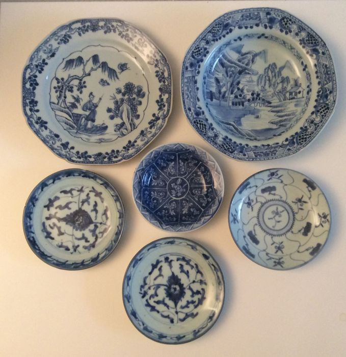 6 pieces chinese porcelain - China - 18th-19th  century