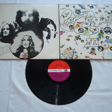 "Led Zeppelin - III - Atlantic, Rare Original UK Pressing With Purple/Orange Label, ""Rotating-Wheel"" Cover & ""Peter Grant"" Credit! Great Condition!"