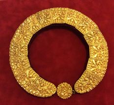 24 kt gold antique Russian 19th century necklace
