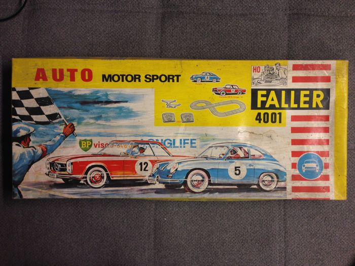 Faller - scale 1/87 - Auto Motor Sport Faller 4001 with 3 x Mercedes-Benz