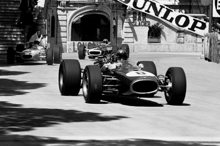 1965 Monaco grand prix Rindt Cooper, Lotus Black and White  Photograph