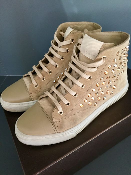 GUCCI very rare - crystals in gold and amber color - Schoenen