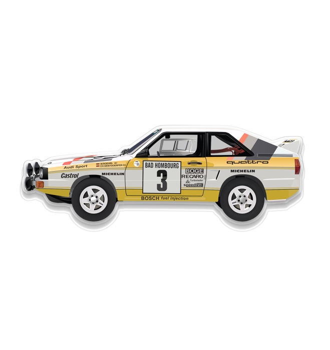SXL- Wall Scale Model Audi Quattro Rallye