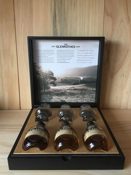 The Glenrothes -3 special bottles in Luxury Box - 10cl