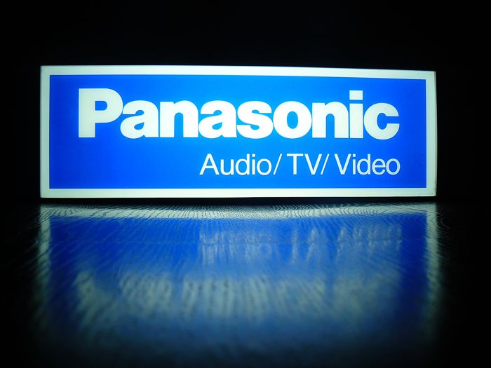 Unique neon PANASONIC - electronics logo. 45x15x15