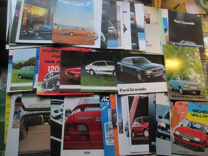 Car brochures (Ford, including Anglia/Capri/Granada/Taunus, 42x, 1961-2000)