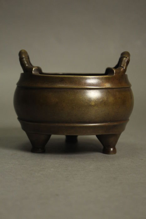 A large bronze censer - China - 19th century