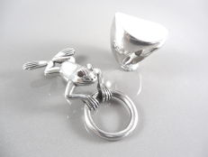 925 silver Pendant -5 cm,925 silver ring -16.3 mm