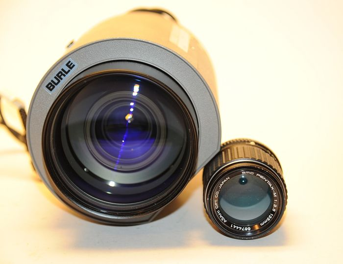 LARGE TV zoom lens 15-180 mm 1.9 see the difference in the first picture