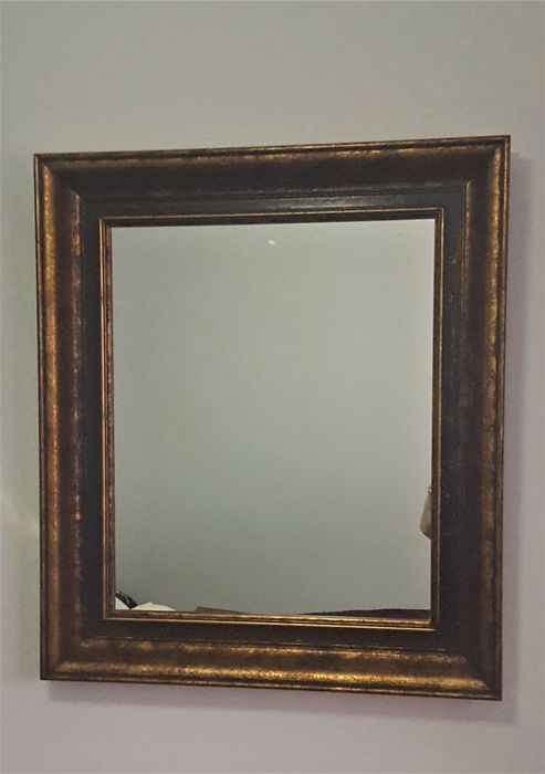 Mirror painted in bronze, Spain, 1970s