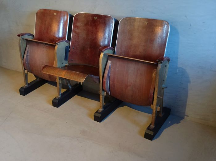 Fourel & Co - set of 3 movie theather chairs