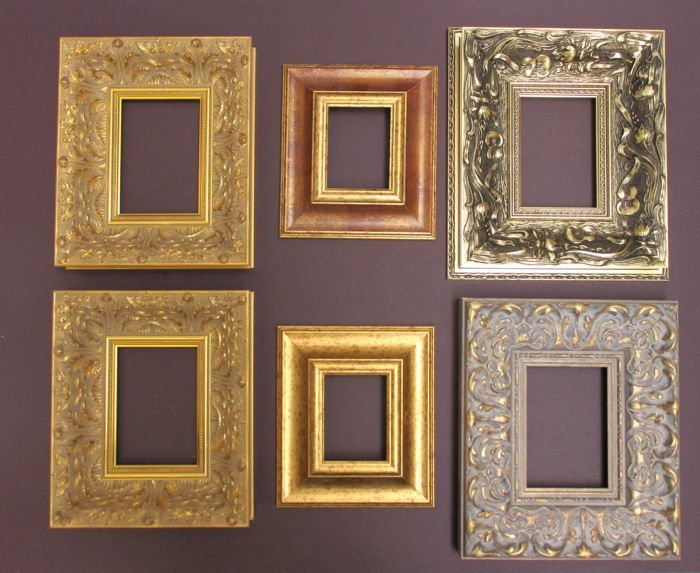844dee6975a 6-pieces wide decorative frames - Catawiki