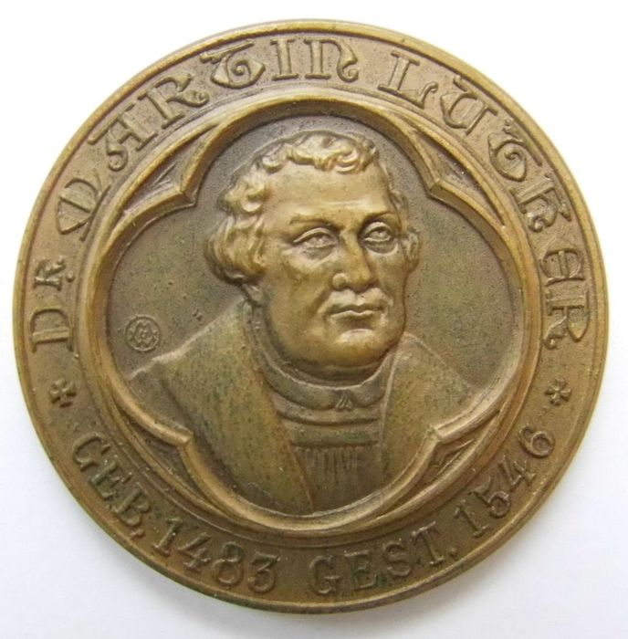 Germany - Medal 1917 commemorating to 400 Years of Reformation/Martin Luther, 1483-1546