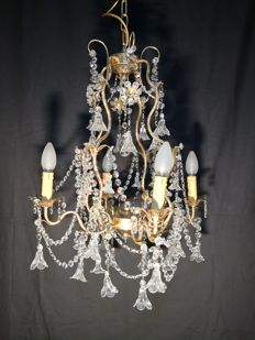 Beautiful Murano chandelier Maria Theresa style Italy, 1950s/60s