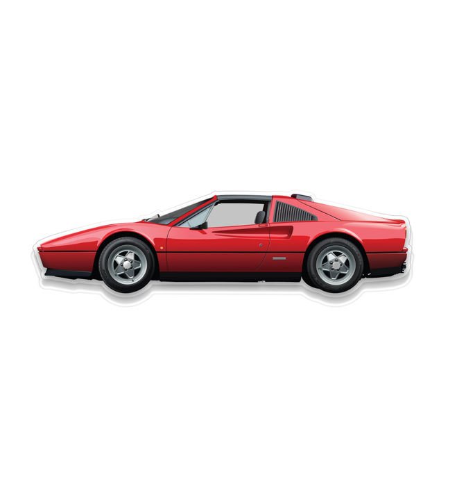 SL - Wall Scale Model Halmo Collection Ferrari 328 GTS
