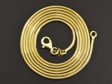 "18k Gold Necklace. Solid Chain ""Real Snake"" · Length 60 cm · Weight 7.52 g"