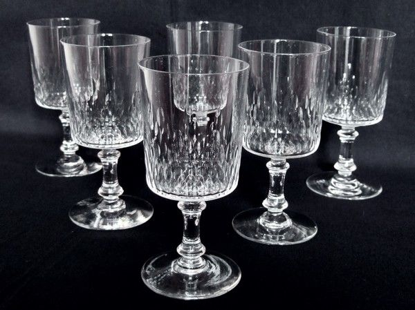 6 Baccarat Crystal Water Glasses Richelieu Model From The 1916