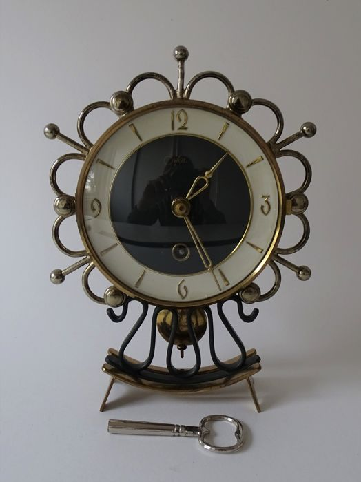 Vintage Orfac clock with pendulum -1960s