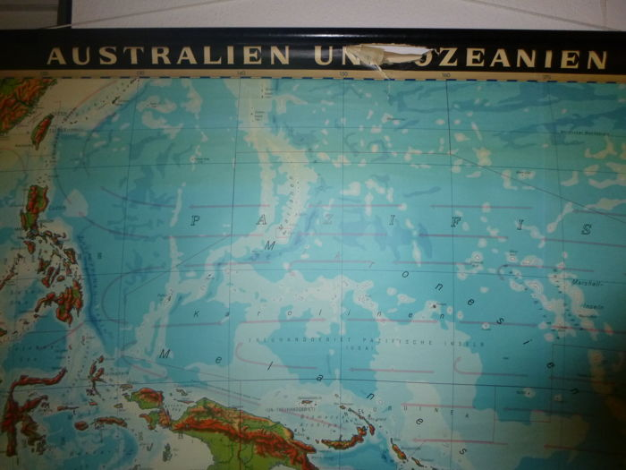 Map Of Australia And Neighbouring Countries.Lot With 4 School Poster Maps Germany And Neighbouring Countries