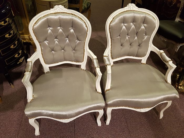 Two chairs baroque made by hand
