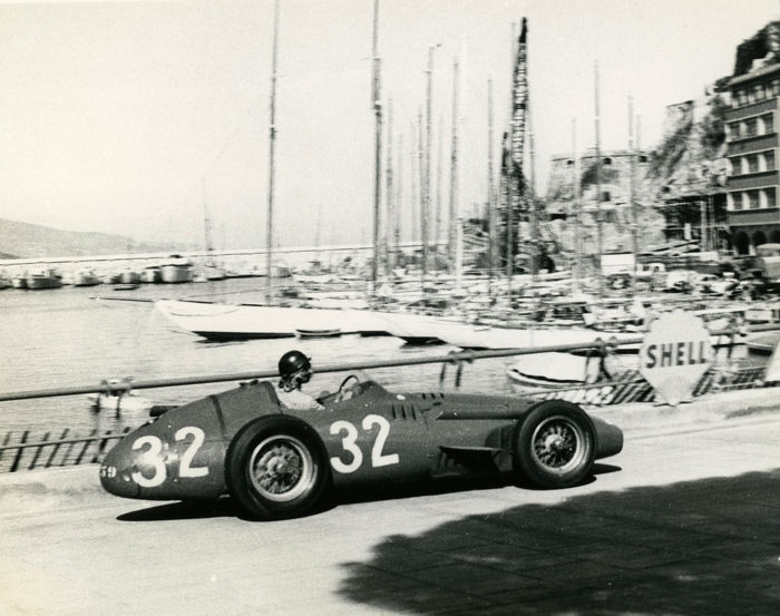 1958  Monaco Grand Prix  Fangio in a Maserati Michael Hewett original photograph